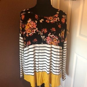 Plus Size 3X top by A.N.A NWT